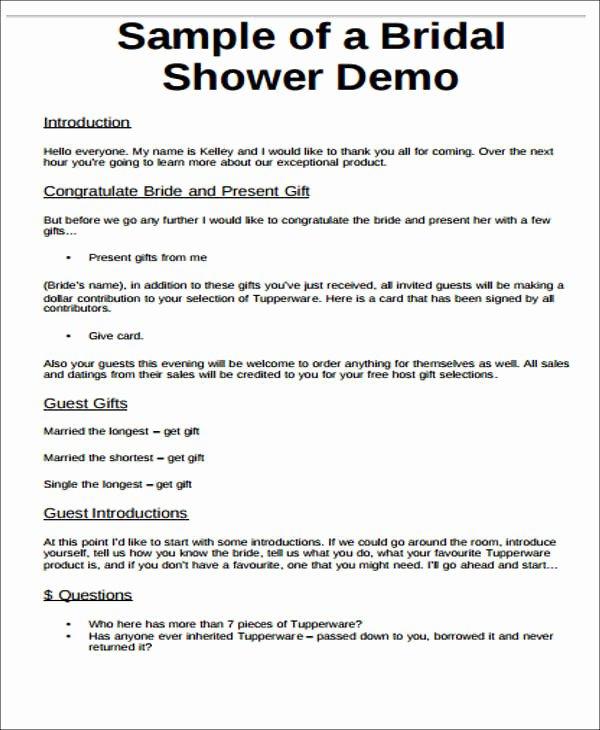 Bridal Shower Program Sample Beautiful Bridal Shower to Do List Templates Free Word Pdf format
