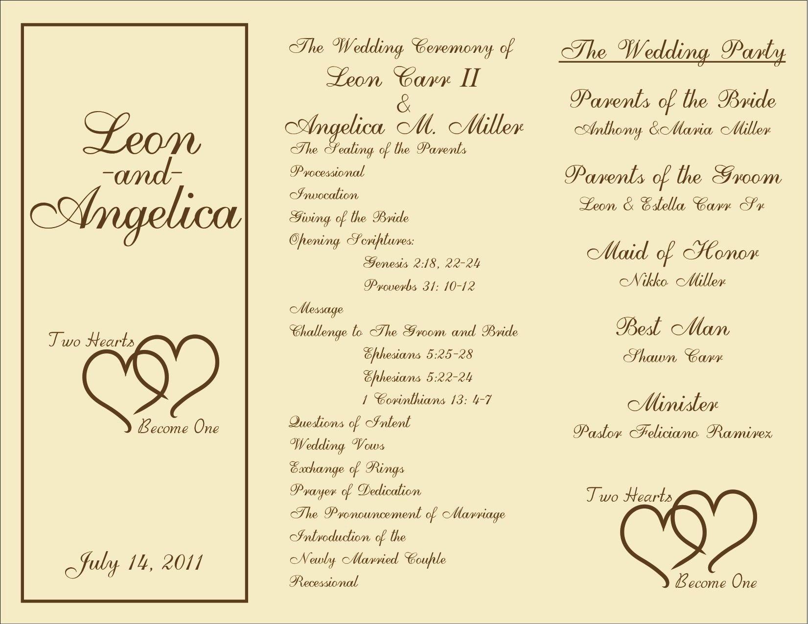 Bridal Shower Program Sample Best Of Printable Wedding Programs On Pinterest