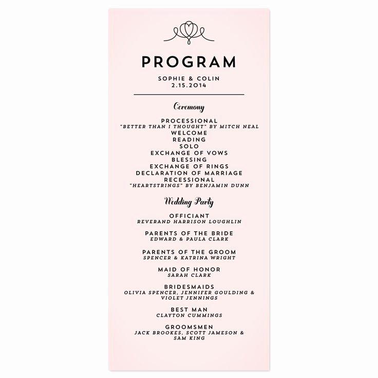 Bridal Shower Program Sample Lovely Classic Penmanship Wedding Programs