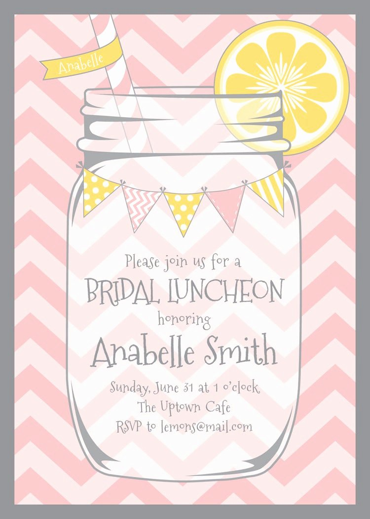 Bridal Shower Program Sample Lovely Mason Jar and Chevrons Invitation by Lemonadedesignstudio