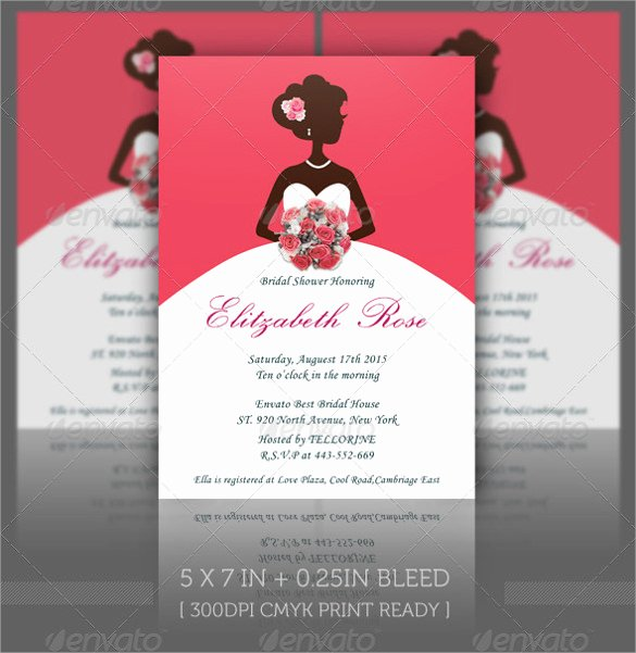 Bridal Shower Program Sample Luxury Sample Bridal Shower Invitation Template 25 Documents