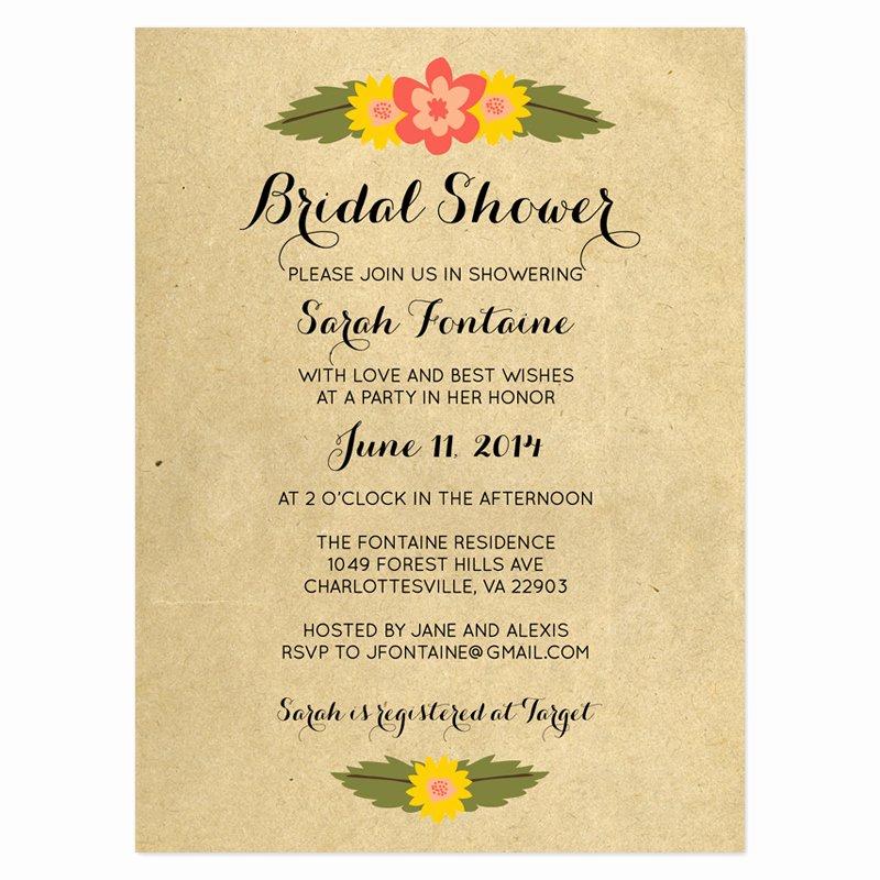 Bridal Shower Program Sample Luxury Sample Wedding Shower Invitations