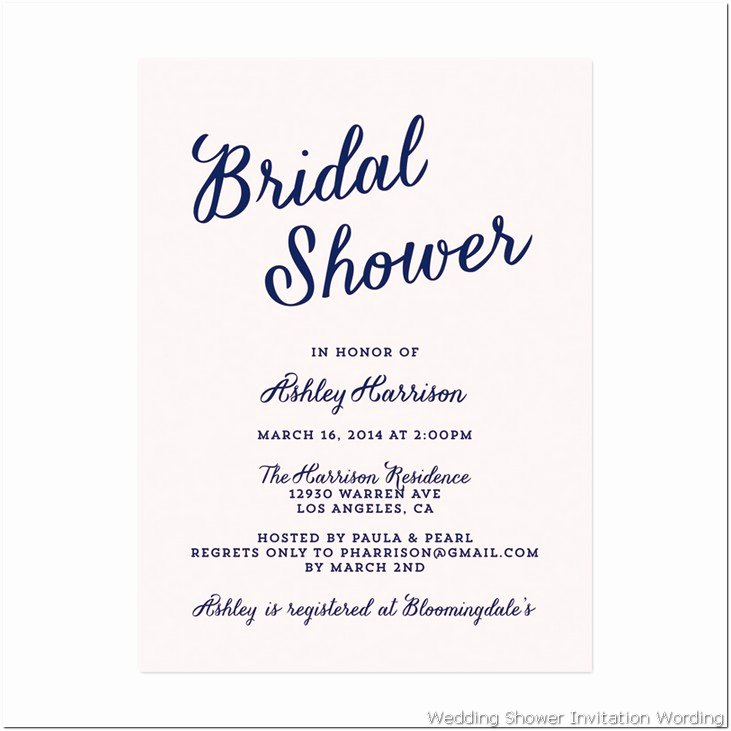 Bridal Shower Program Sample New Bridal Shower Invitation Wording