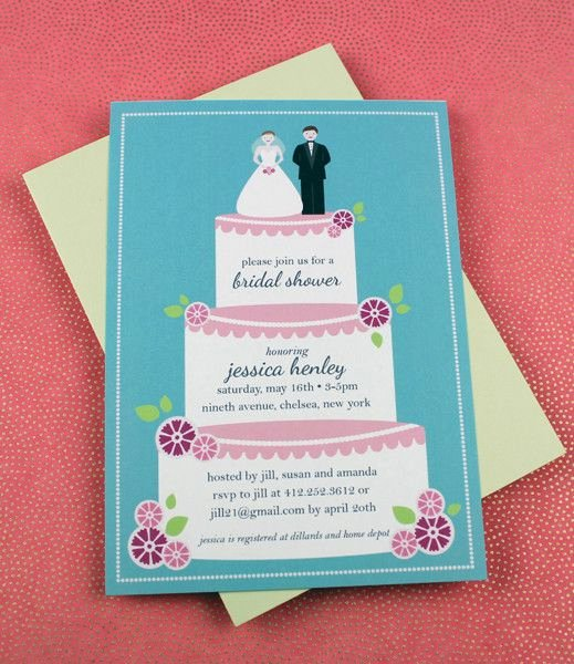 Bridal Shower Program Sample Unique Wedding Cake Bridal Shower Invitation Template