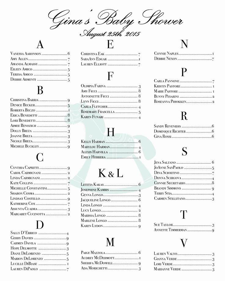 Bridal Shower Seating Chart Elegant Get 20 Seating Chart Wedding Ideas On Pinterest without