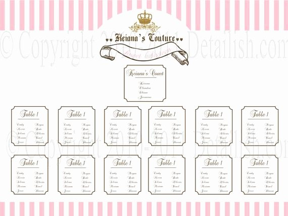 Bridal Shower Seating Chart Inspirational Items Similar to Printable Juicy Couture Inspired Seating