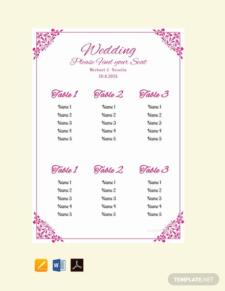 Bridal Shower Seating Chart Lovely Free Chalkboard Wedding Seating Chart Template Download