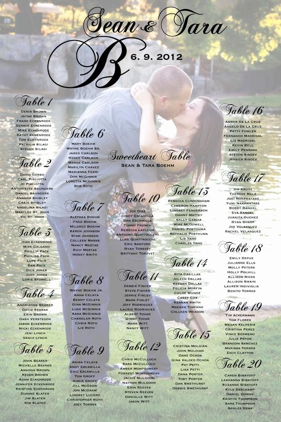 Bridal Shower Seating Chart Luxury Unavailable Listing On Etsy