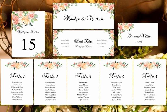 Bridal Shower Seating Chart Unique Wedding Seating Chart Set Jasmine S Garden Diy Templates