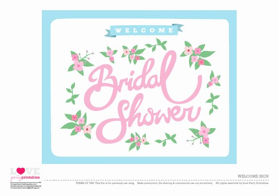 Bridal Shower Signs Printable Awesome Free Bridal Shower Party Printables From Love Party