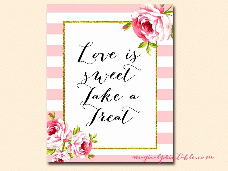 Bridal Shower Signs Printable Beautiful Pink Stripes and Floral Printable Signs Wedding Bridal