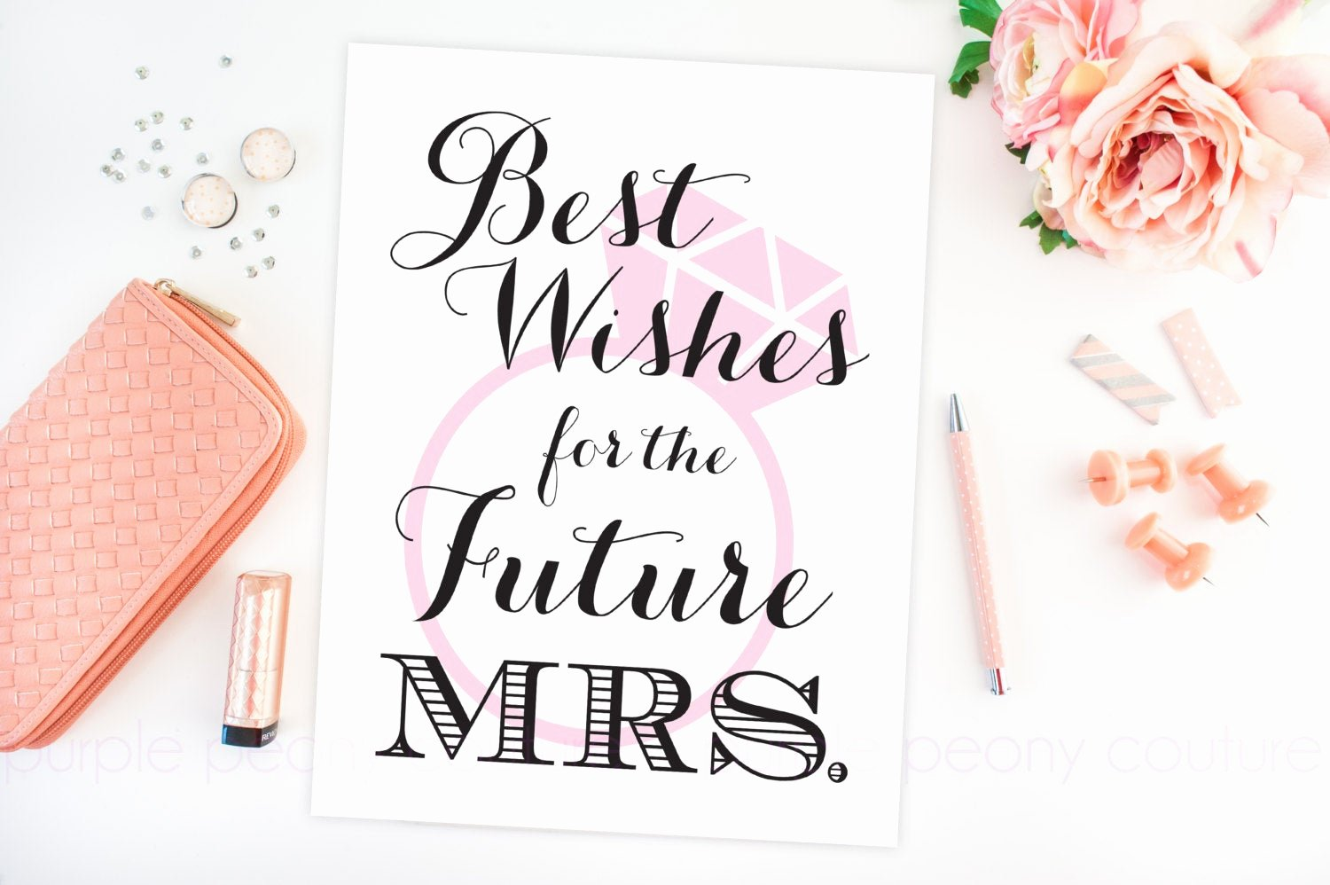 Bridal Shower Signs Printable Elegant Bridal Shower Decoration Future Mrs Sign Poster Printable
