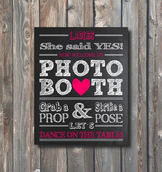 Bridal Shower Signs Printable Inspirational Items Similar to Bridal Shower Booth Sign– Printable