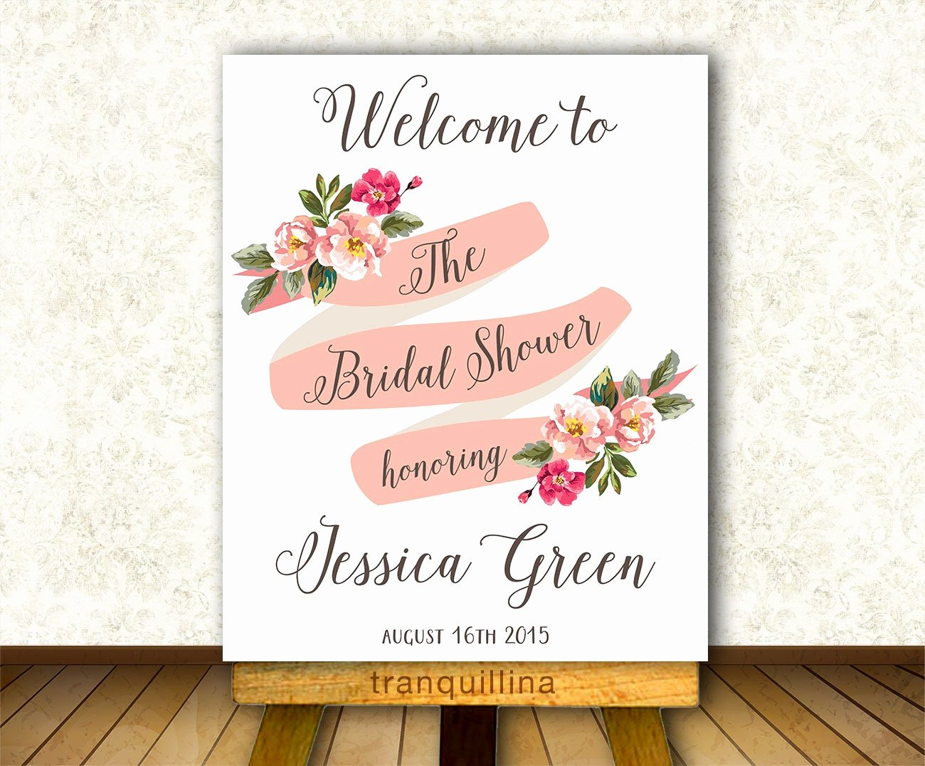 Bridal Shower Signs Printable Lovely Bridal Shower Wel E Sign Printable Floral Wel E Sign