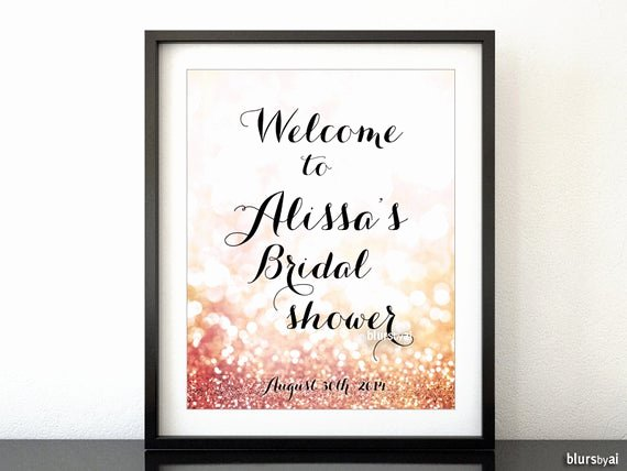 Bridal Shower Signs Printable Lovely Printable Sign Custom Bridal Shower Wel E Sign In Gold
