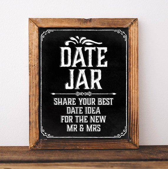 Bridal Shower Signs Printable New Wedding Chalkboard Sign Printable Wedding Date Jar Sign