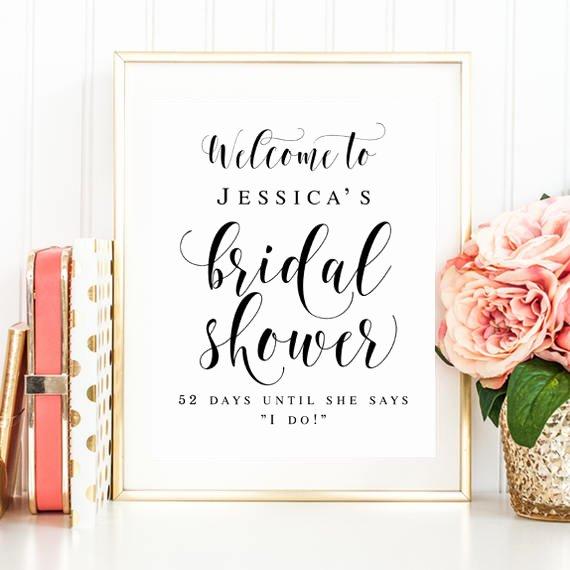 Bridal Shower Signs Printable New Wel E Bridal Shower Sign Editable Template Wel E Sign