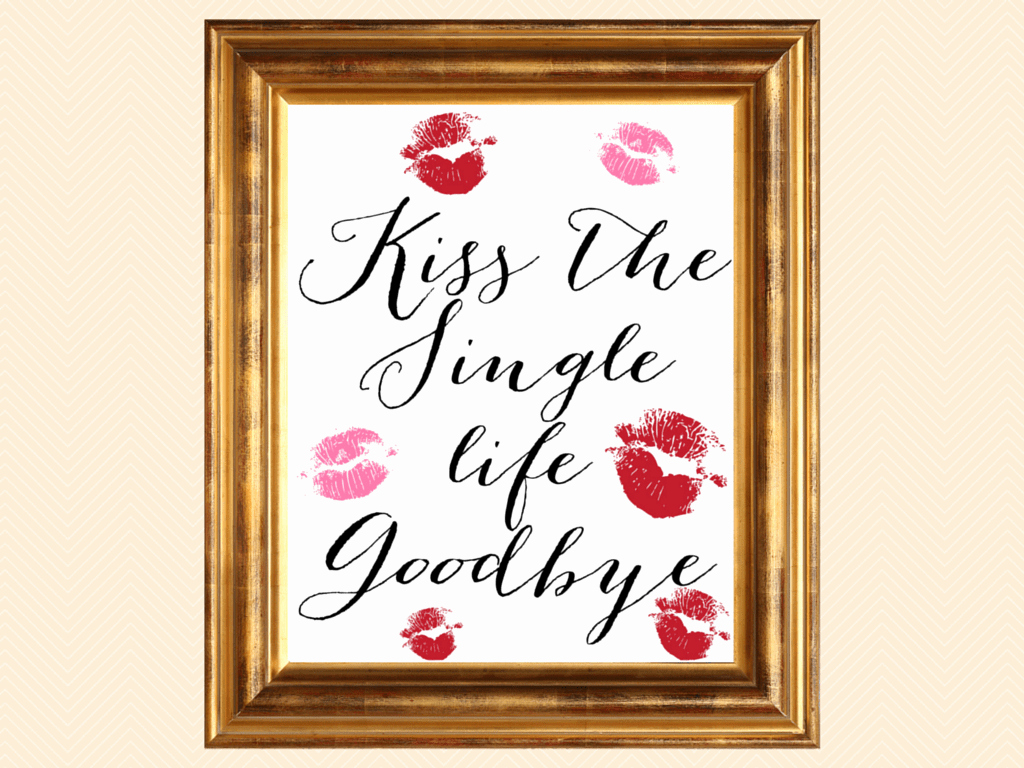 Bridal Shower Signs Printable Unique Bridal Shower Signage Kiss the Miss Goodbye Magical