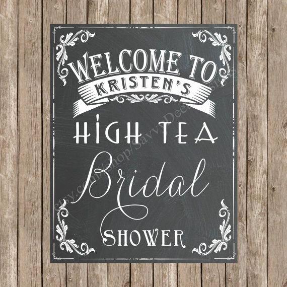 Bridal Shower Signs Printable Unique Custom Bridal Shower Wel E Chalkboard Printable Sign