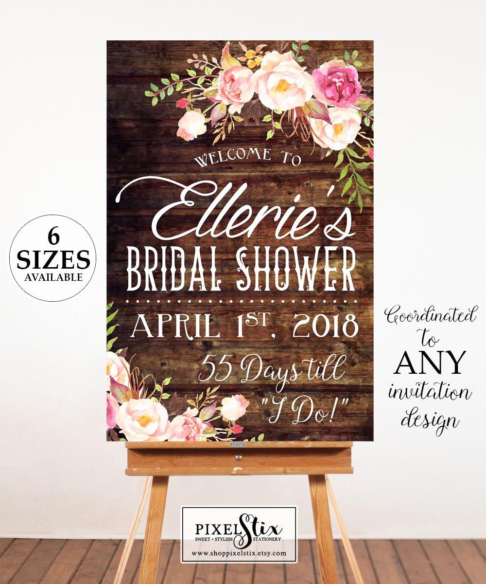 Bridal Shower Signs Printable Unique Printable Bridal Shower Wel E Poster Bridal Shower Sign