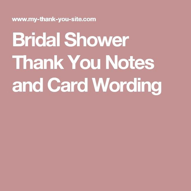 Bridal Shower Thank You Examples Beautiful 1000 Ideas About Sample Thank You Notes On Pinterest