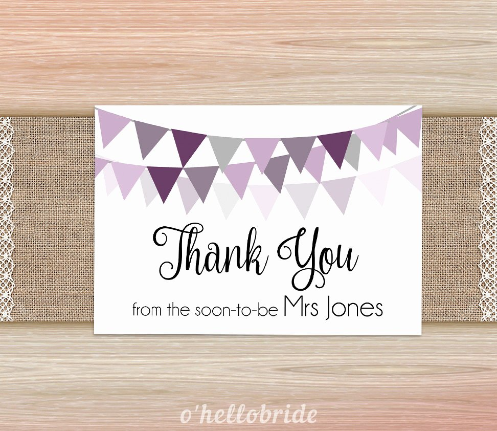 Bridal Shower Thank You Examples Beautiful 14 Bridal Shower Thank You Card Examples Editable Psd