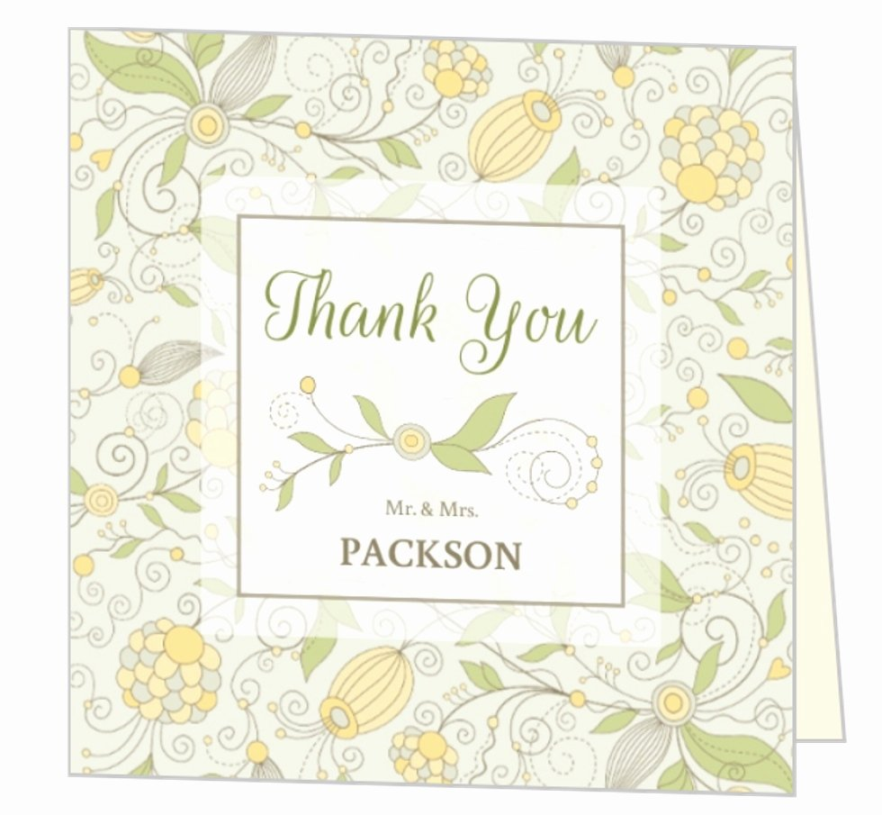 Bridal Shower Thank You Examples Beautiful Whimsical Summer Floral Wedding Thank You Card