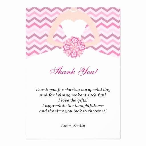 Bridal Shower Thank You Examples Elegant Bridal Shower Thank You Template