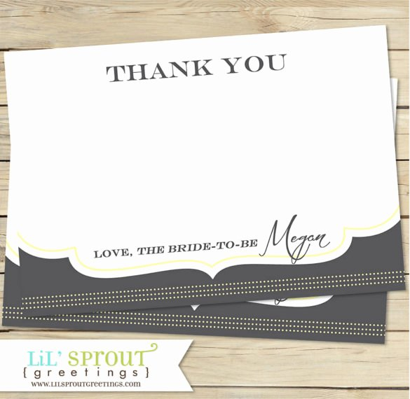 Bridal Shower Thank You Template Awesome 8 Bridal Shower Thank You Notes – Free Sample Example