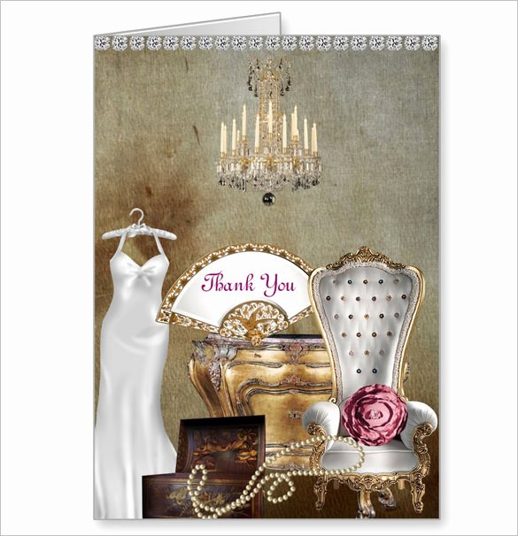 Bridal Shower Thank You Template Beautiful 16 Bridal Shower Thank You Cards Psd Eps Ai