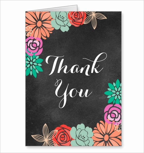 Bridal Shower Thank You Template Elegant 16 Bridal Shower Thank You Cards Psd Eps Ai