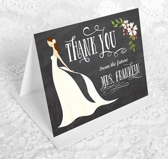 Bridal Shower Thank You Template Inspirational 16 Bridal Shower Thank You Cards Psd Eps Ai
