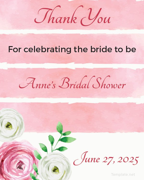 Bridal Shower Thank You Template Luxury 26 Favor Tag Templates – Free Sample Example format
