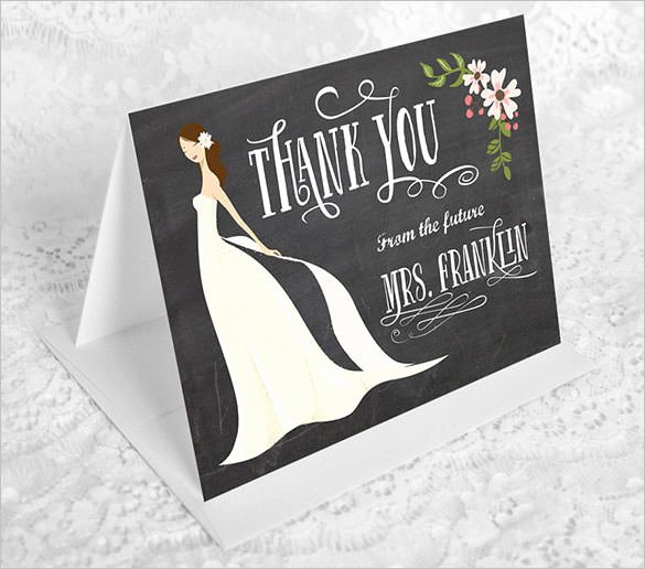 Bridal Shower Thank You Template Unique 106 Thank You Cards Free Printable Psd Eps Word Pdf