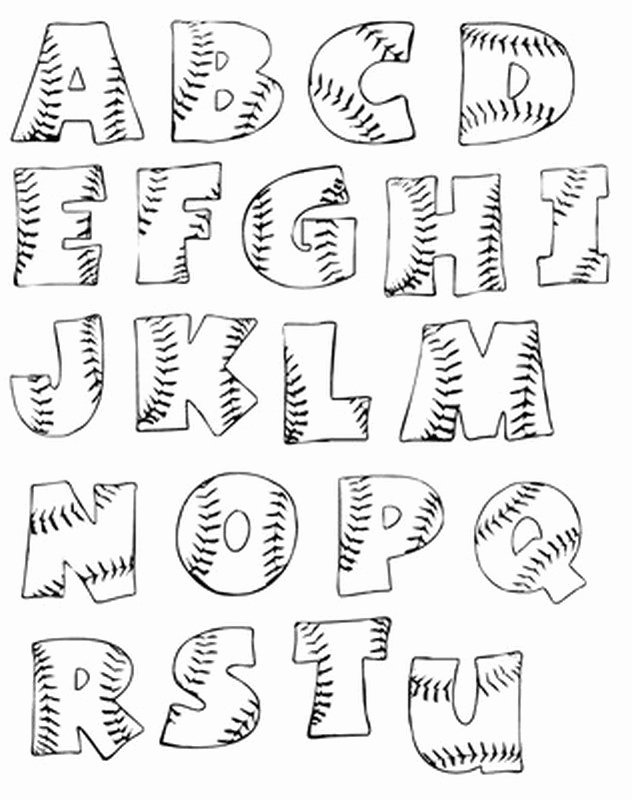 Bubble Letter Font Printable Awesome Printable Baseball Bubble Letters Sports