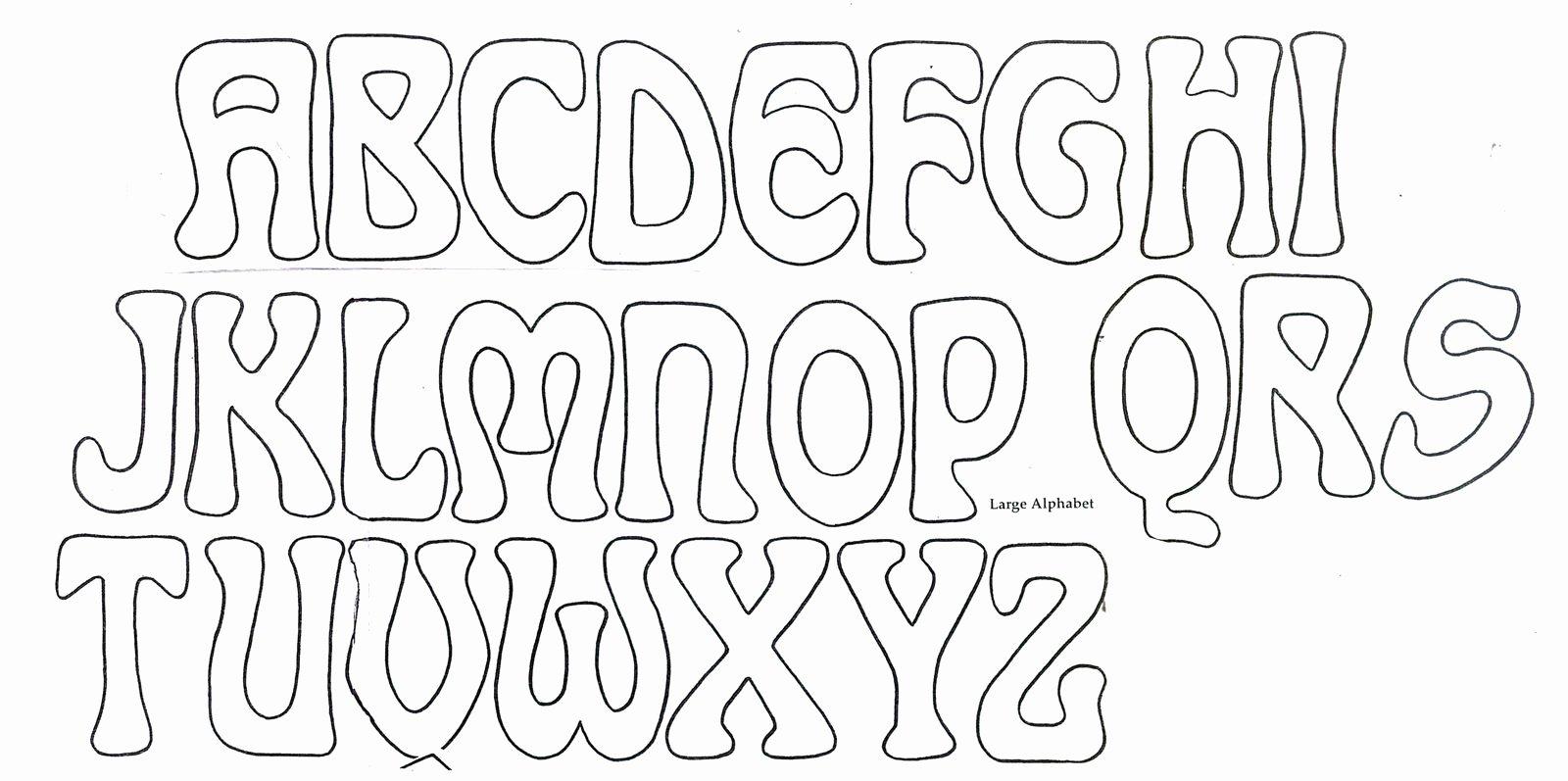 Bubble Letter Font Printable Fresh Cool Bubble Letters Alphabet to Trace