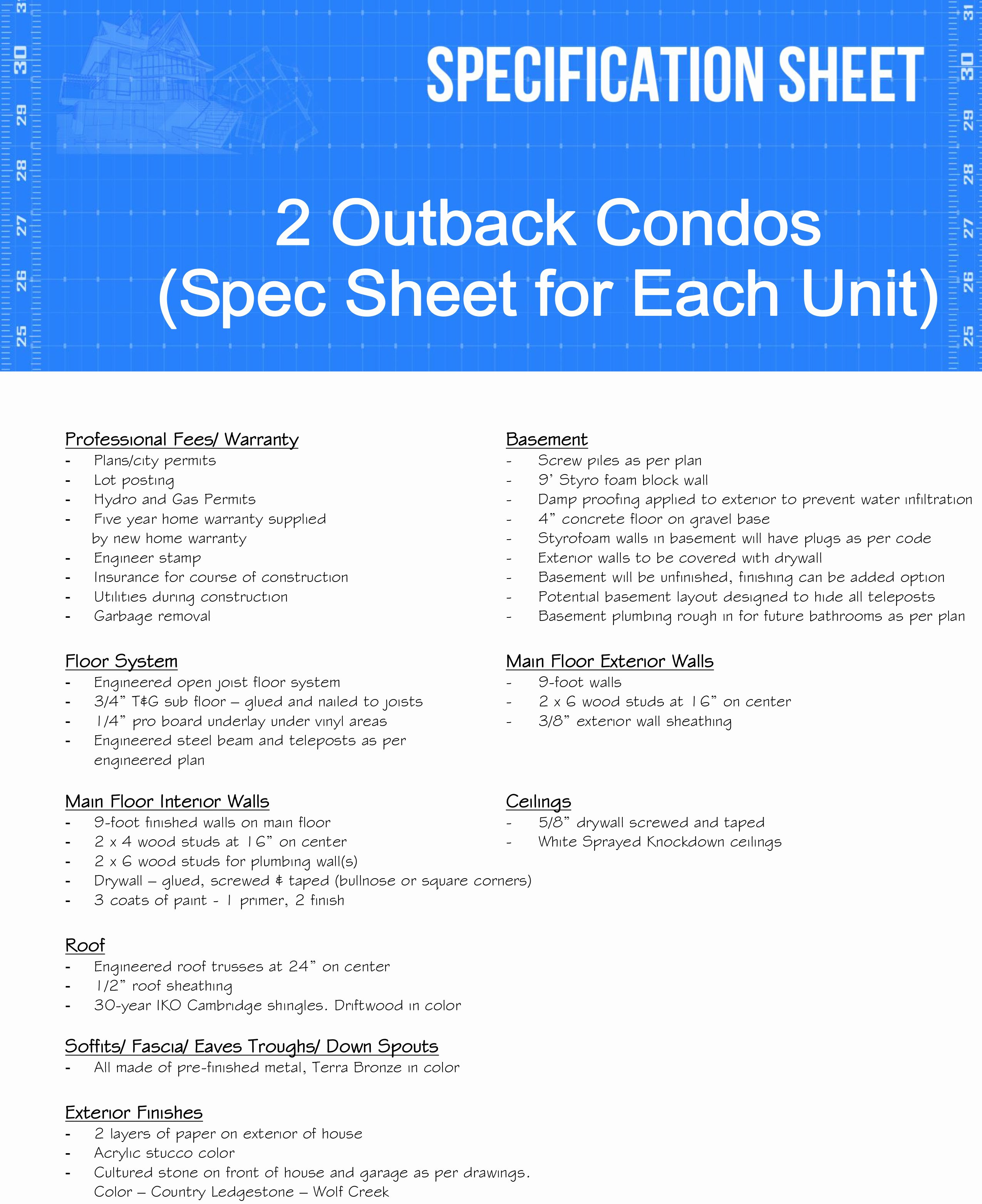 Builder Spec Sheet Template Beautiful 3 Questions to ask Residential Construction Spec Sheet