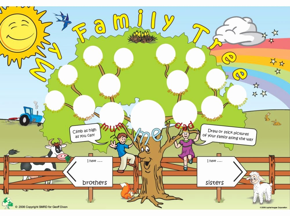 Building A Family Tree Template Beautiful Family Tree Template for Kids