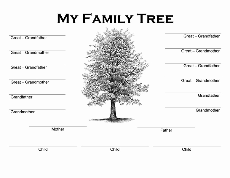 Building A Family Tree Template Best Of Family Tree Templates Word Word Excel Samples