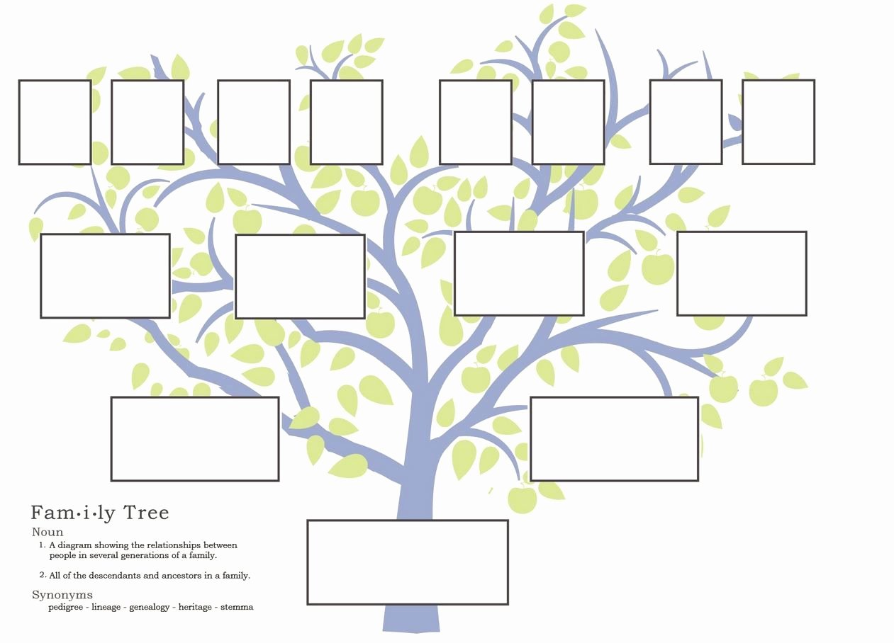 Building A Family Tree Template Elegant Free Family Tree Template to Print Google Search