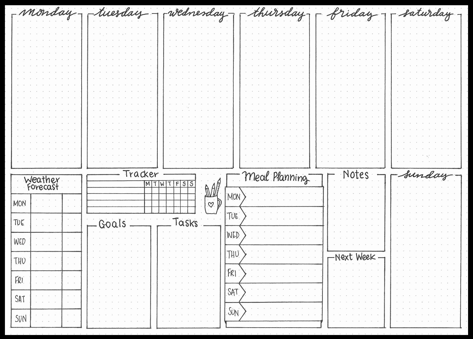 Bullet Journal Layout Templates Awesome Pin by Michael Tran On Bullet Journal
