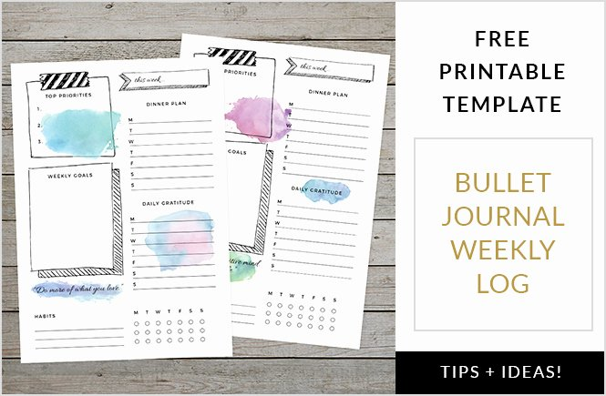 Bullet Journal Layout Templates Best Of 15 totally Free Bullet Journal Printable to organize Your
