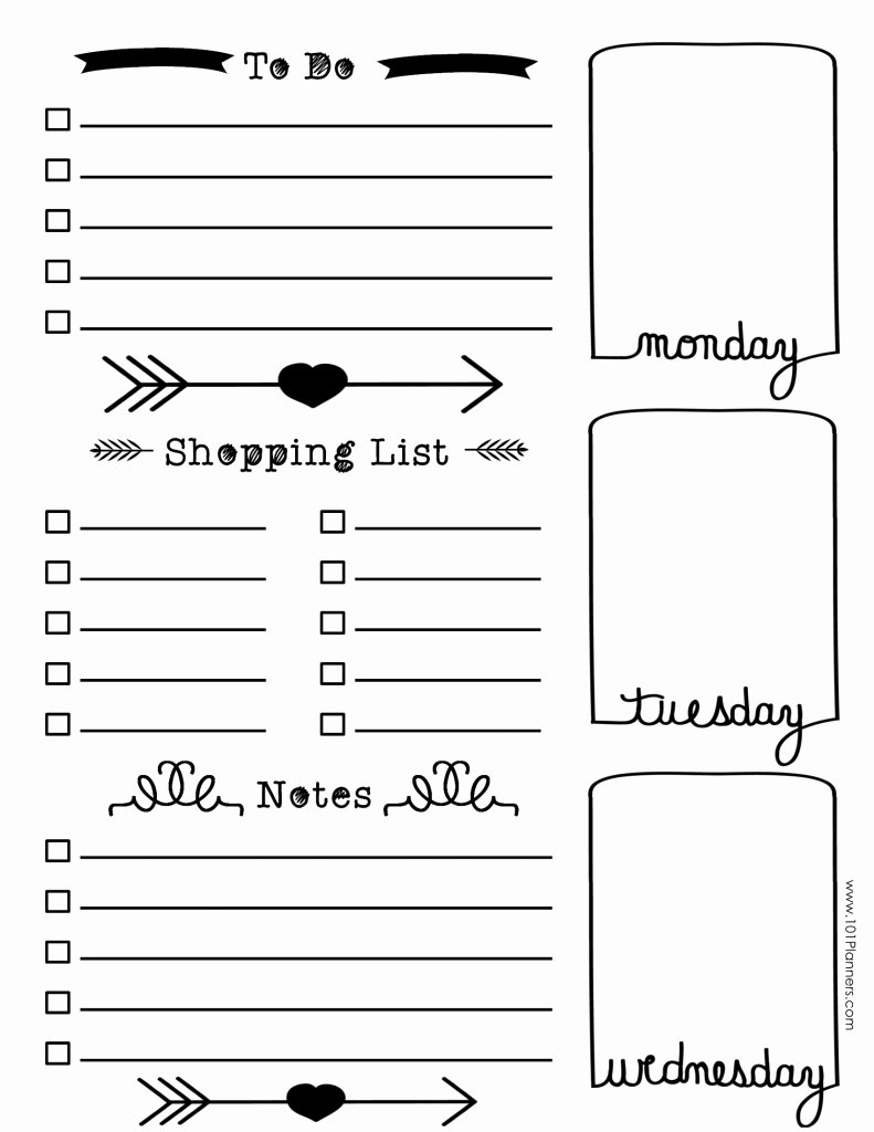 bullet journal ideas layout free 3