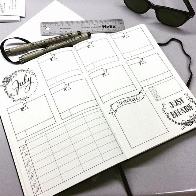 Bullet Journal Layout Templates Unique Bullet Journal Layout Template