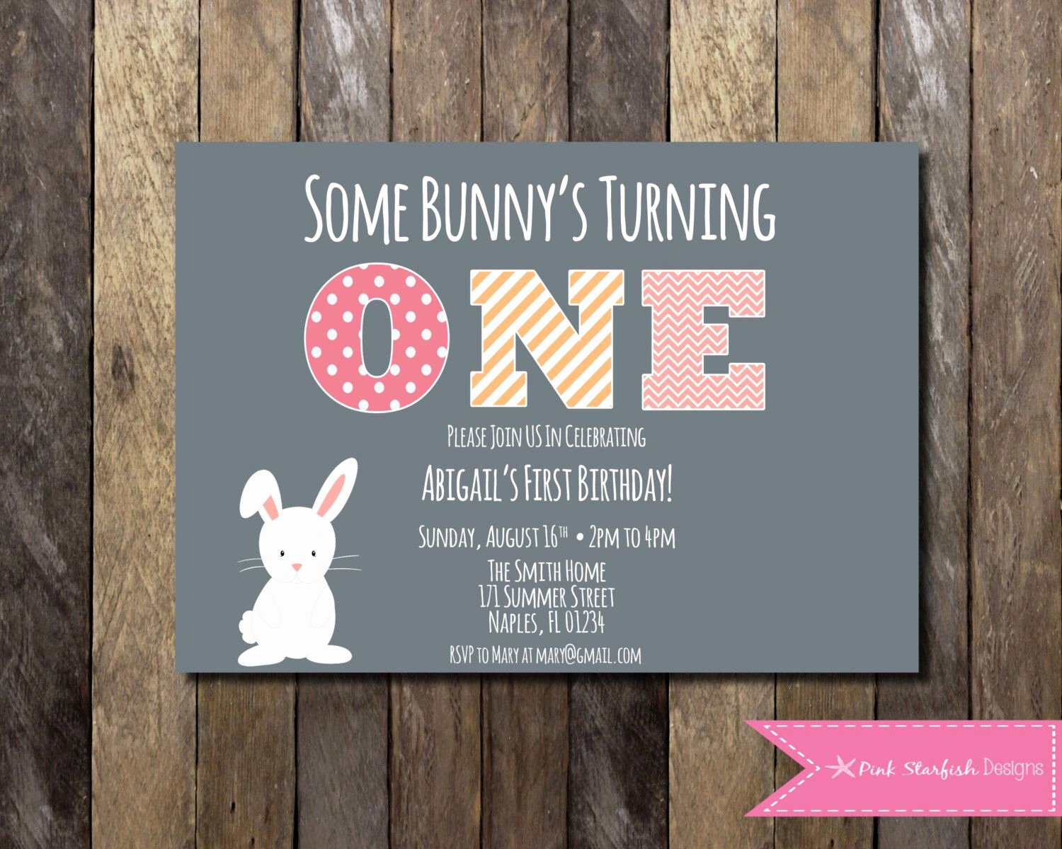 Bunny Birthday Invitation Template Elegant Pin by Brista Kent On Vault 1st Birthday Ideas I Couldn T
