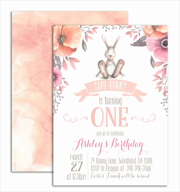 Bunny Birthday Invitation Template Fresh Easter Invitation Template – 28 Psd Eps format Download