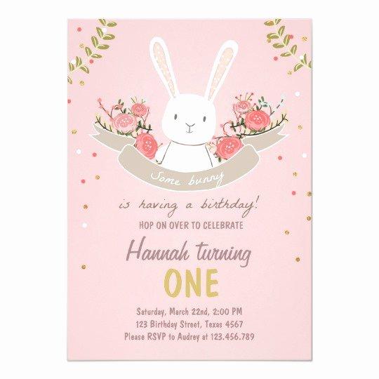 Bunny Birthday Invitation Template Fresh some Bunny Easter Spring Birthday Invitation