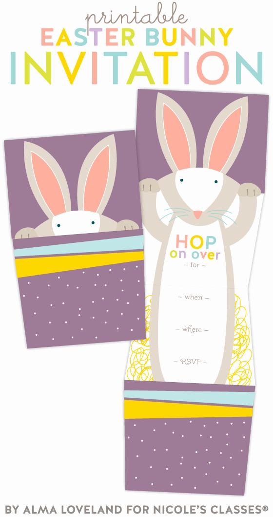 Bunny Birthday Invitation Template Inspirational Free Adorable Bunny Invitation by Alma Loveland for Nicole
