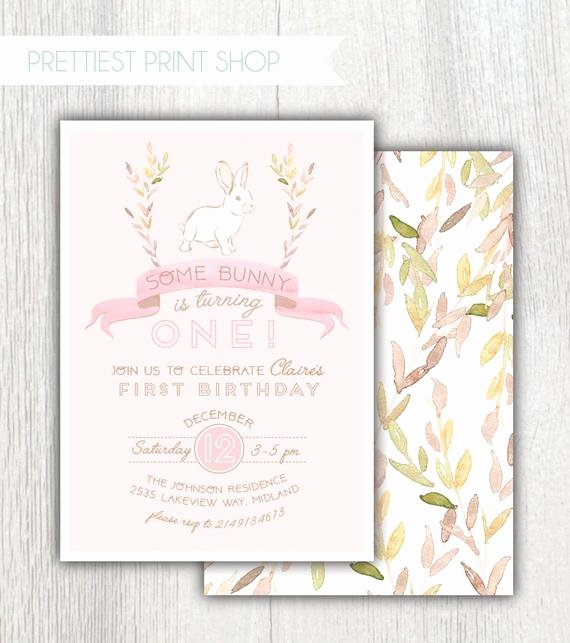 Bunny Birthday Invitation Template Inspirational Printable Bunny Birthday Invitation some Bunny is Turning