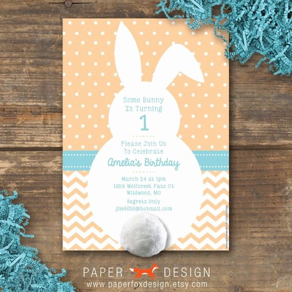 Bunny Birthday Invitation Template Lovely Pat the Bunny Birthday Invitation Printable